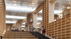 Library in Japan has walls made of bookshelves. This is what I've dreamed of for a home- put the books in their rooms....love it.