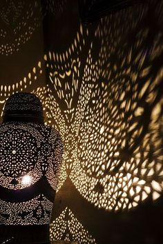 Moroccan Light. I want a lamp that will put pattern on the wall and / or ceiling