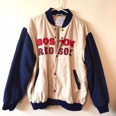 Vintage Boston Red Sox size large bomber jacket Great condition!!! Vintage Jackets & Coats