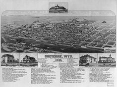 Fast-growing Cheyenne in when Amalia Post was at their peak of social prominence in the city. Library of Congress. Cheyenne Wyoming, Us History, American History, Famous Outlaws, Old West, Rocky Mountains, Paris Skyline, Beautiful Places, Scenery