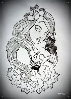 Traditional Tattoo Flash Outlines Always together tattoo flash