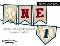 INSTANT DOWNLOAD  Vintage Baseball High by printylittlethings