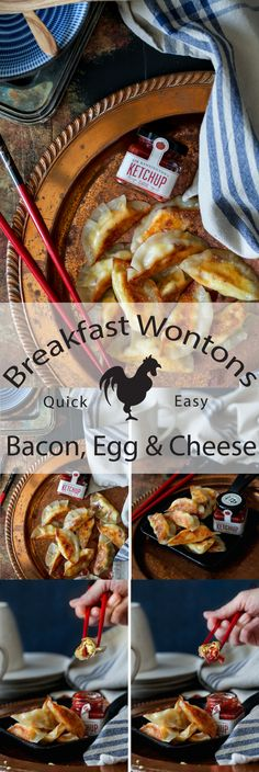 Bacon, Egg, and Cheese Breakfast Wontons | Simple breakfast recipe everyone will love.
