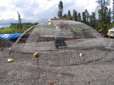 Hawaii Earthship How the domes start out.