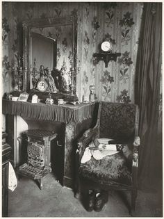 Paris Interior by Eugène Atget, ca 1910