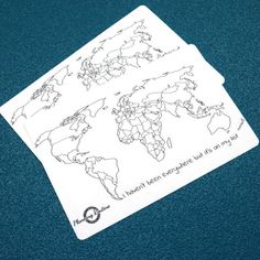 Track where you have been with this map of the World. Color every state you've seen and great a colorful map! The stickers are the perfect size for A5 and A4 notebooks.
