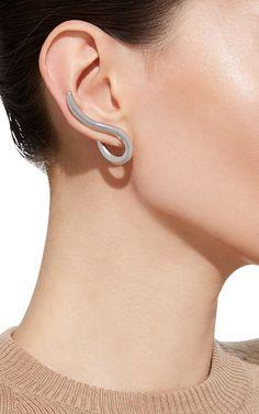 XL Curved Root Earrings in Silver by Jennifer Fisher | Moda Operandi