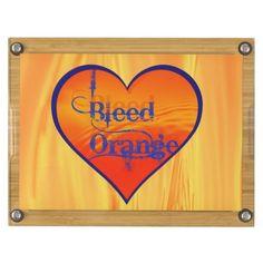 Denver Broncos Bleed Orange Bamboo Cheese Board Rectangular Cheeseboard