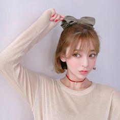 ♡Cute and natural♡ Cute Korean Girl, Asian Girl, Korean Beauty, Asian Beauty, Uzzlang Girl, Girl Short Hair, Korean Model, Pretty Face, Cute Hairstyles
