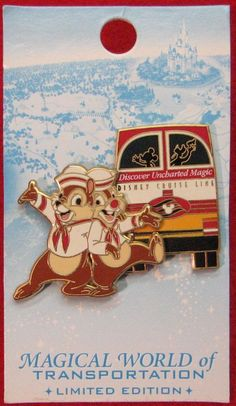 CHIP & DALE DISNEY CRUISE LINE BUS MAGICAL WORLD of TRANSPORTATION LE DISNEY PIN