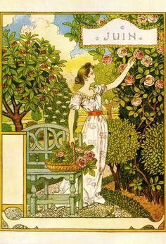 La Belle Jardiniere - Juin 1896 by Eugene Grasset    fromBob Young,thank you!  see previousLBJ