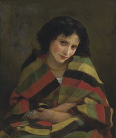 """paintingses: """" """" Frileuse by William Adolphe Bouguereau (1805-1925) oil on canvas, 1872 """" """""""