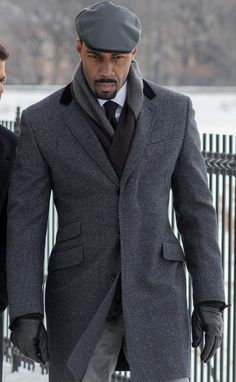 Power Grey Coat worn by Omari Hardwick More