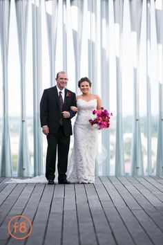 Pink and Black | Modern Glamour Wedding | 7/11 Wedding | Beautiful Brides | Father of the Bride | Bridal Bouquet | Wedding Dress