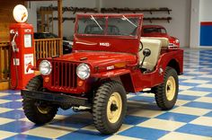 willys jeep red 1. 2