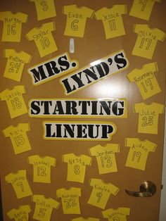 I love classroom doors with children's names incorporated into a theme!  Did this with ice cream one year!  Of course, we made ice cream the first day...
