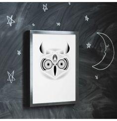 Owl geometric illustration