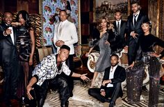 "The Weeknd (Abel Tesfaye), far right, joins the cast of ""Empire"" in this high-fashion spread for Vogue magazine. Description from tadias.com. I searched for this on bing.com/images"