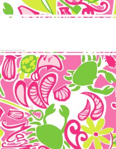 FREE College Class Printables : Lilly Inspired Personalized Binder Covers