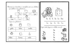 atividades sibalicas com a letra L completando as silabas