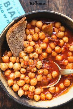 Chickpeas in Breton Vegan Vegetarian, Vegetarian Recipes, Cooking Recipes, Healthy Recipes, Mini Appetizers, Soup And Salad, Diy Food, Good Food, Food Porn