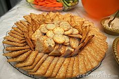 Cracker platter to possibly go with cubed cheese and pepperoni/salami/summer sausage platter  Cracker Platter by Yudaman, via Dreamstime Party Platters, Cheese Platters, Sausage Platter, Summer Sausage, Cheese Cubes, Food Wishes, Snack Recipes, Snacks, Food Items