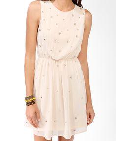 Bejeweled Blouson Dress | FOREVER21 - 2031557131