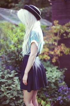 My grunge fashion — smellslike-teengrunge:   Skater skirt