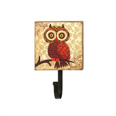 Who wants to leave their coat or bag on the floor? Who? Not you! This darling wall-mounted metal hook is highlighted by a wooden plaque that's decorated with a charming retro-inspired owl.Big Eyes Owl Wall Hook by Rustica House. #myRustica