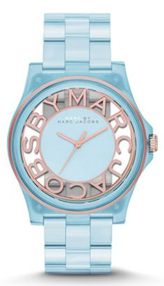 MarcJacobs watch in ice blue