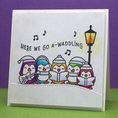 Christmas Bird, Handmade Christmas, Christmas Wreaths, Christmas 2019, Christmas Lights, Homemade Christmas Cards, Christmas Cards To Make, Xmas Cards, Penny Black Stamps