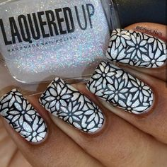 stamping nail art by Gifted_nails stamping nail art by Gifted_nails Nail Stamping Designs, Stamping Nail Art, Cool Nail Designs, Great Nails, Cute Nails, My Nails, Mandala Nails, Trendy Nail Art, Types Of Nails
