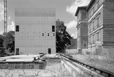 The only built relic of Peter Zumthor's Topography of Terror document center in Berlin. Started in 1992 and demolished in 2004