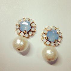 *OPEN SALE* flower bijou * cottonpearl Blue Opal