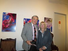 """Dr. Roger Salisbury, M.D. and Dr. Judith Monteferrante, M.D. attending the """"Holiday Fete: 12-12-12"""" Party!"""