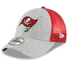 2233651b7caf8 Men s Tampa Bay Buccaneers New Era Heathered Gray Red Turn 9FORTY Adjustable  Snapback Hat