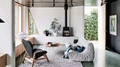 green terrazzo + gray togo extension architecture australia renovation