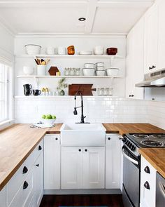 A tiny gorgeous kitchen. If you have a small kitchen space keep it simple and…