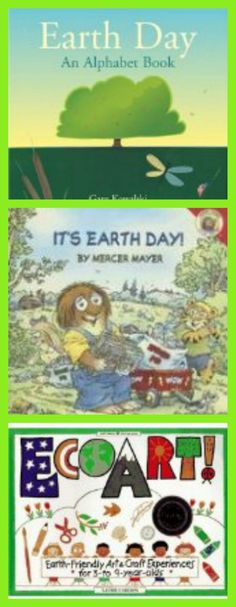 Kids Books & Websites for Earth Day - fun ways to introduce recycling, ecology and earth-friendly ideas!