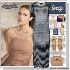 """STRIPE MAXI DRESS"" by mzbossyfashions11 on Polyvore"