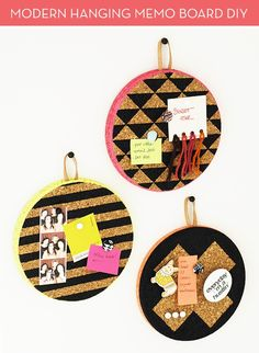 How To: Make Graphic Cork and Leather Hanging Memo Boards » Curbly | DIY Design Community