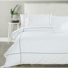 Hotelier Prestigio™ Check Embriodery Quilt Cover | Cromly Shop