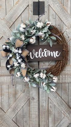 Autumn Wreaths For Front Door, Diy Fall Wreath, Front Door Decor, Fall Wreaths, Summer Wreath, Double Door Wreaths, Christmas Wreaths, Deco Wreaths, Rustic Wreaths