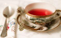Картинка Чай, чашка, блюдце, ложки, салфетка