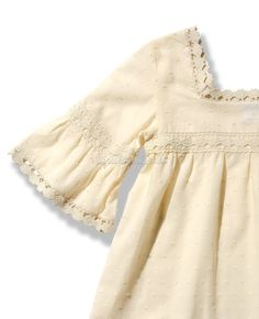 Blusón para niña en plimeti beige