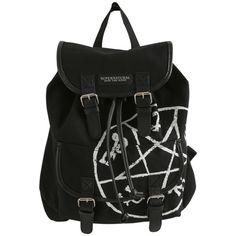 Hot Topic Supernatural Runes Medium Slouch Backpack (€24) ❤ liked on Polyvore featuring bags, backpacks, accessories, black, rucksack bags, drawstring backpacks, day pack backpack, drawstring knapsack and hot topic bags
