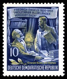 EBS-East-Germany-DDR-1955-Freidrich-Engels-10Pf-MNH-Michel-486