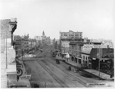 History of Winnipeg - Wikipedia, the free encyclopedia--Winnipeg's Main Street in 1887 (at Pioneer Avenue, looking north through Portage and Main). The horse-car lines would be supplemented by a second set of tracks of the Winnipeg Electric Street Railway in 1892