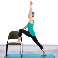 Active seniors who participate in balance training are typically better equipped to react to the demands of daily life and are better able to avoid falls. Yoga is an effective way to train for balance, and those who cannot participate in traditional yoga classes can perform many exercises while using a chair for support. The following chair yoga sequence features static and dynamic forms of balance to improve activities of daily living.