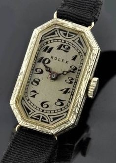 1922 Rolex gold manual winding lady's watch. From Art Deco, Avant Garde and Modernism, FB. Vintage Rolex, Vintage Watches, Antique Watches, Vintage Men, Antique Jewelry, Vintage Jewelry, Art Nouveau, Art Deco Watch, Old Watches